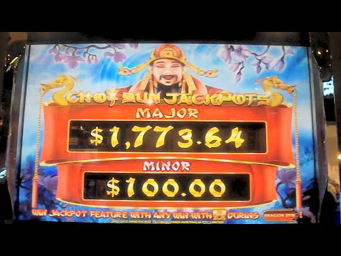 Choy Sun Jackpots Slot Machine BIG WIN Las Vegas Progressive Winner