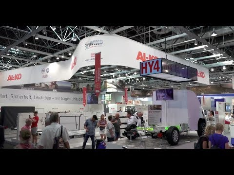 Video stand ALKO CARAVAN SALON 2017 Düsseldorf Germany iStandVideo