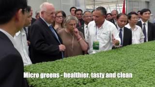 Israeli president visits hydroponic farm in Vietnam