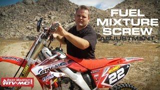 5. 4 Stroke Fuel Mixture Screw Adjustment