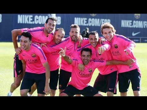 بالفيديو.. برشلونة يستعد لريال مدريد بتدريب غريب