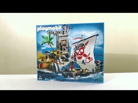 Unboxing Playmobil (fr) : Le bateau des pirates et la tour de guet (2011) – 5919