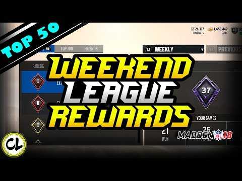 Top 50 Weekend League Rewards! 92 Overall Legend Pull! Huge Pack Opening! Madden 18 Ultimate Team