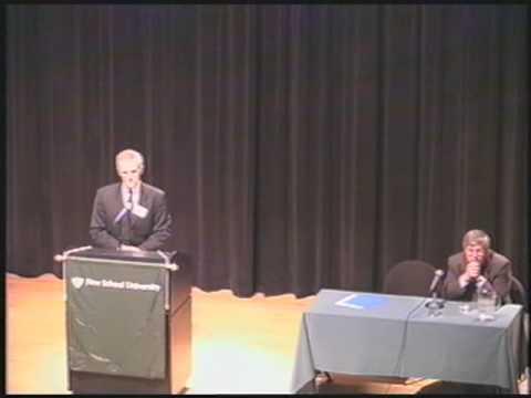 2002 - Internationale Justiz, Kriegsverbrechen und Terrorismus - Keynote: Bob Kerrey | The New School