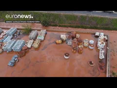 Εικόνες από drone – Πλημμύρες και καταστροφές στη Δυτική Αττική