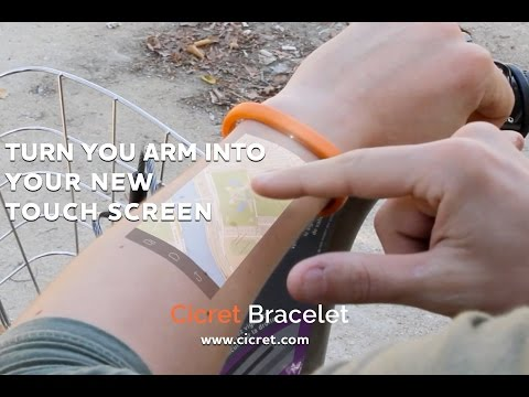 The Cicret Bracelet: Like a tablet…but on your skin.