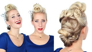 1940's Pin Up Girl Hairstyle