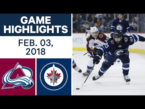 Video: NHL Game Highlights | Avalanche vs. Jets - Feb. 03, 2018