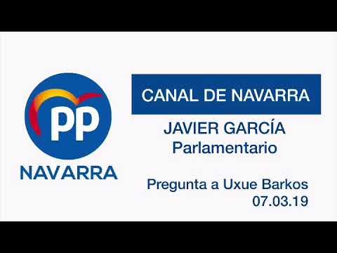 """Javier García: """"Ustedes empujan el Canal de Navarra hacia arriba"""""""
