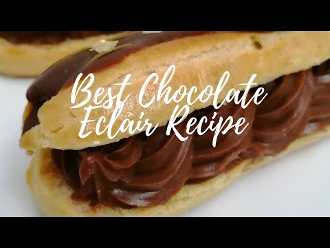 Best Chocolate Eclair Recipe /Easy Homemade Chocolate Eclair Recipe
