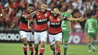 """Veja o que Guerrero e Diego fez no Jogo - Flamengo 5 x 1 Chapecoense Brasileirão 23/06/2017 """"Guerrero ainda não marcou no..."""