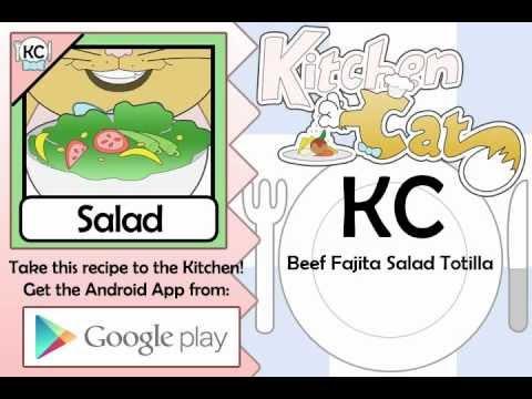 Video of KC Beef Fajita Salad Totilla