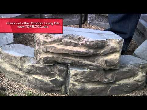 30 fire pit kits natural concrete products for Precast concrete outdoor fireplace kits