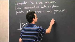 Area Between The Graphs Of Sine And Cosine | MIT 18.01SC Single Variable Calculus, Fall 2010