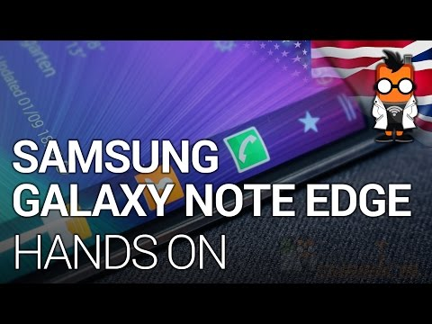 Samsung Galaxy Note Edge Hands On - Phablet with Curved Display