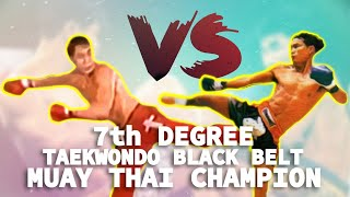 Video 7th Degree Taekwondo Blackbelt vs. Muay Thai Champion MP3, 3GP, MP4, WEBM, AVI, FLV Oktober 2018