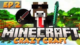 "Minecraft ""DREAMING OF BIG BERTHA"" - CRAZY CRAFT Modded Survival - Ep. 2 ( Crazy Craft Part 2 )"