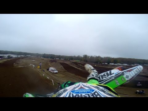 MXPTV - Delmarva Powersports / Bel-Ray / Alias / FMF rider Tyler Wozney shows us the Raceway Park track during his Open A and 250 A morning practice sessions at the ...
