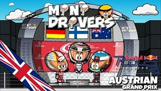 We're back! The new MiniDrivers season is on and the best highlights of this season races will be available to you with the unique humor of your favorite characters.Valtteri Bottas achieved his second victory of the season at the Austrian GP. After a perfect start which was considered a jump start for Sebastian Vettel, the finnish driver from Mercedes could take the 25 points for the team while Lewis Hamilton had to make a comeback from the 8th position after changing his gearbox. Check the highlights of the race with your favorite characters and have fun with them. - - - - - - - - - - - - - - - - -- - - FOLLOW US - - -- - - - - - - - - - - - - - - - -FACEBOOKMiniDrivers - F1: https://www.facebook.com/officialminidrivers/MiniBikers - MotoGP: https://www.facebook.com/officialminibikersMinEDrivers - Formula E : https://www.facebook.com/officialminedriversMindyDrivers - Indycar: https://www.facebook.com/mindydrivers/TWITTEREnglish: https://twitter.com/officialminisEspañol:https://twitter.com/officialminisESTELEGRAMChannel: https://telegram.me/officialminisGroup: https://telegram.me/officialministelegram- - - - - - - - - - - - - - - - - - - - VIDEOGAME - - -- - - - - - - - - - - - - - - - - MINIDRIVERS - VIDEOGAMEiOS: https://itunes.apple.com/app/id873538439?mt=8Android: https://play.google.com/store/apps/details?id=com.minidrivers.formula1.comOSX: https://itunes.apple.com/us/app/minidrivers-game-mini-racing/id994431876?mt=12Steam: http://store.steampowered.com/app/385490/MINIBIKERS - VIDEOGAMEiOS: https://itunes.apple.com/app/id1015922561?mt=8Android: https://play.google.com/store/apps/details?id=com.miniBikers.bikesOSX: https://itunes.apple.com/app/id1022820730?mt=12Steam: http://store.steampowered.com/app/416350/- - - - - - - - - - - - - - - - - - - - - -- - - MERCHANDISING - - -- - - - - - - - - - - - - - - - - - - - - -Merchandising: MiniDrivers - http://bit.ly/storeminidriversMiniBikers - http://bit.ly/storeminibikersMinEDrivers - http://bit.ly/storeminedrivers©2017 - MiniDrivers, MiniBikers & MinEDrivers - MediaChannel Entertainmentwww.losminidrivers.com