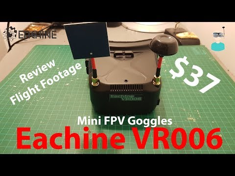 Eachine VR006 VR-006 3 Inch Mini FPV Goggles - Unboxing, Review And Flight Footage