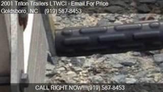 8. 2001 Triton Trailers LTWCI  for sale in Goldsboro, NC 27534