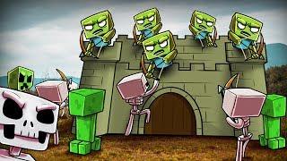 Minecraft | 500 Skeletons vs 500 Creepers vs 500 Zombies! (Zombie Castle Defense)