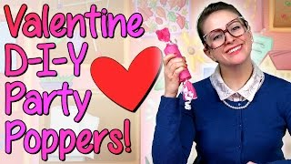 Valentines Day - DIY Party Favors - Crafts For Kids W/ Crafty Carol At Cool School