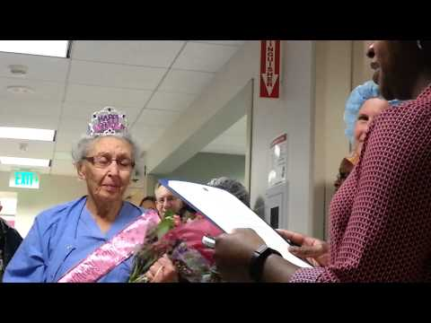America  s Oldest Working Nurse Turns 90