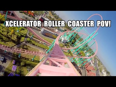 POV - Xcelerator Front Seat POV! One of the best steel roller coasters in California! Filmed by Robb Alvey - http://www.themeparkreview.com Follow us on: Facebook: http://www.facebook.com/themeparkre...