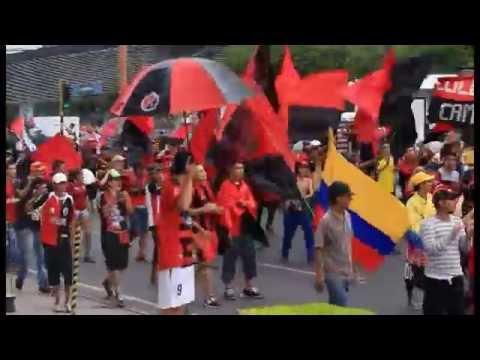 Banderazo  y Recibimiento (29 de mayo 2016) Cúcuta 2-0 América - La Banda del Indio - Cúcuta