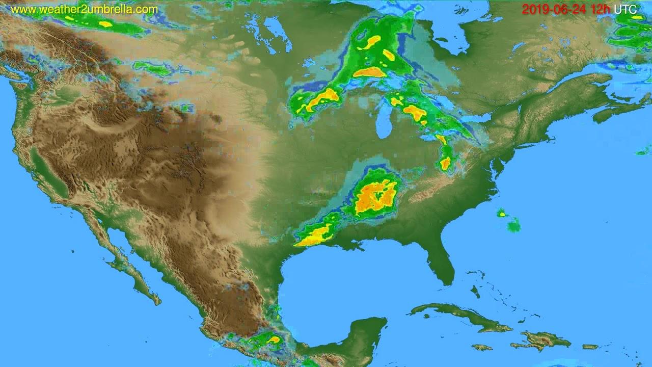 Radar forecast USA & Canada // modelrun: 00h UTC 2019-06-24