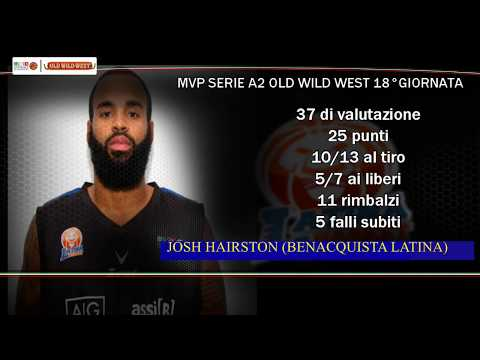 Serie A2 Old Wild West: MVP 18. giornata Josh Hairston