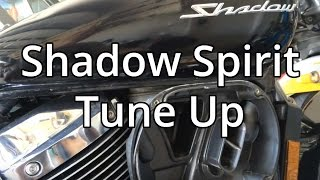 8. How To Honda Shadow Spirit 750 Tune up.