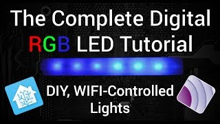 Video The BEST Digital LED Strip Light Tutorial - DIY, WIFI-Controllable via ESP, MQTT, and Home Assistant MP3, 3GP, MP4, WEBM, AVI, FLV September 2019