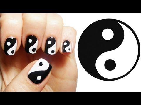 nail art yin e yang