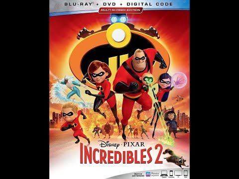 Incredibles 2 Blu-ray Unboxing
