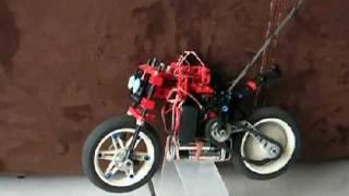 Lego Technic Rc Motorcycle, Work In Progress