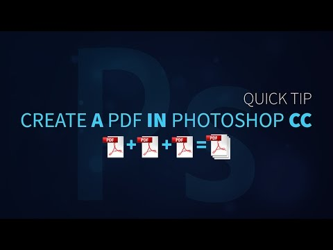 How To Create A Multi-Page PDF In Photoshop - PHOTOSHOP TUTORIAL