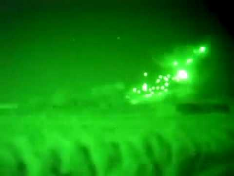 Cobra And Huey Attack Taliban At Night