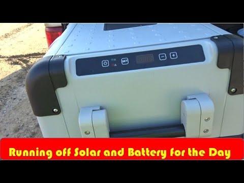 Refrigerator Running off Solar and Battery