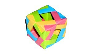 Оригами куб схема. Оригами из бумаги