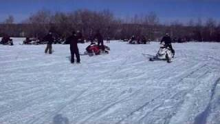8. 2011 Ski-Doo 800 E-Tec Freeride vs. 2011 Polaris Pro RMK 800 | Birch Hills Rally Feb. 12/11
