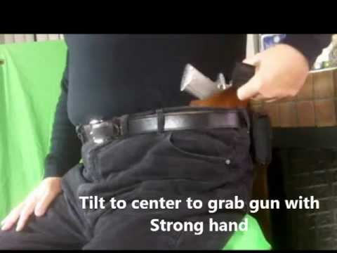 Cell Pal Holster – Drawing while seated