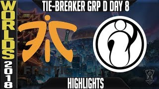 FNC vs IG Tie-Breaker Highlights   Worlds 2018 Group D Day 8   Fnatic(EULCS) vs Invictus Gaming(LPL)