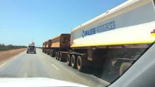 Port Hedland Australia  city photos : Iron ore road trains near Port Hedland, WA