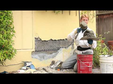 Repair buckling stucco,  buckling plaster wall repairs