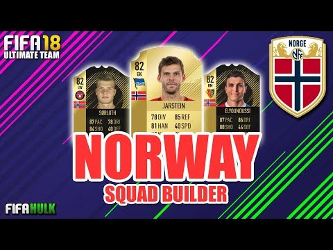 FIFA 18 NORWAY SQUAD BUILDER Ft SIF SORLOTH IF WANGBERG + IF ELYOUNOUSSI