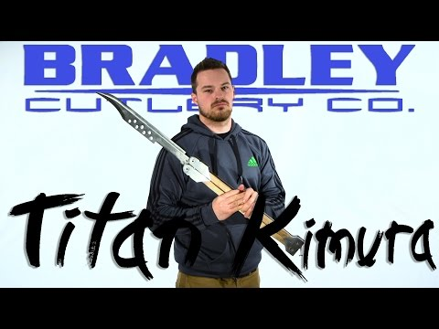 "Bradley Cutlery Titan Kimura Butterfly Knife White-Ebony Wood (19"" Satin)"