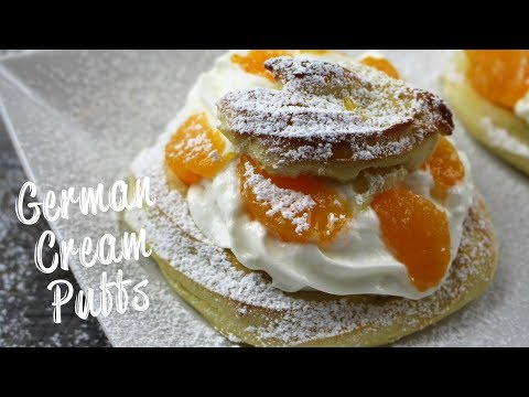 German Cream Puffs - Windbeutel