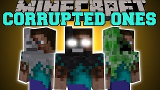 Minecraft: CORRUPTED ONES MOD (CRAZY STEVE ABOMINATIONS!) Mod Showcase